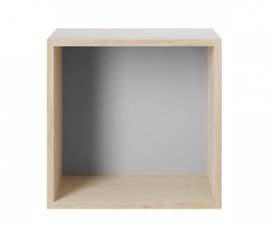 MUUTO Stacked 2.0 - Medium med Bagbeklædning - Eg/Light Grey