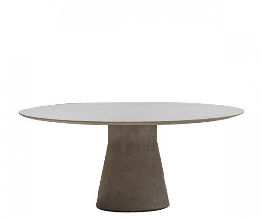 Andreu World Reverse Dining Table - Cement - Ø160cm.
