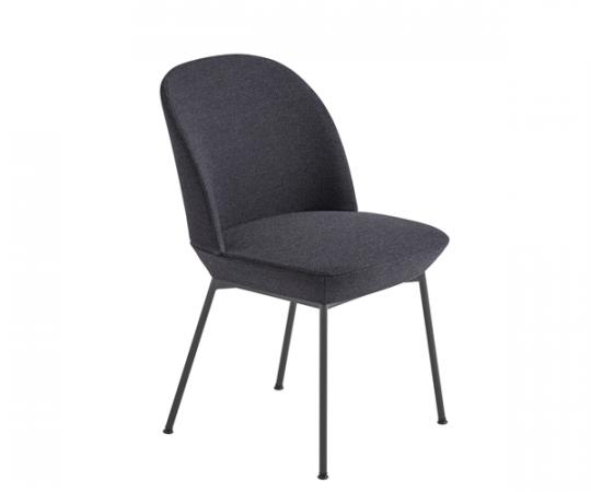 Muuto Oslo Side Chair - Ocean 601/Anthracite Black