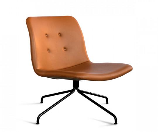 Bent Hansen Primum Lounge Stol - Cognac Adrian Læder