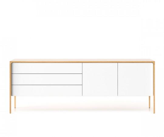 Punt Tactile Skænk - TA216 Supermat Eg / Hvidbejdset