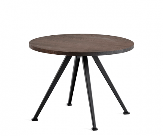 HAY Pyramid Table 51 Sofabord - Ø60cm - Røget Eg/Sort