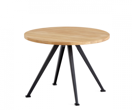 HAY Pyramid Table 51 Sofabord - Ø60cm - Olieret Eg/Sort
