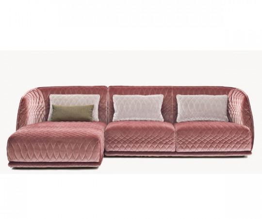 Moroso Redondo 3 pers sofa med pouf