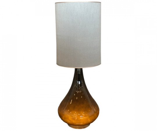 renata lampe flavia grå silke
