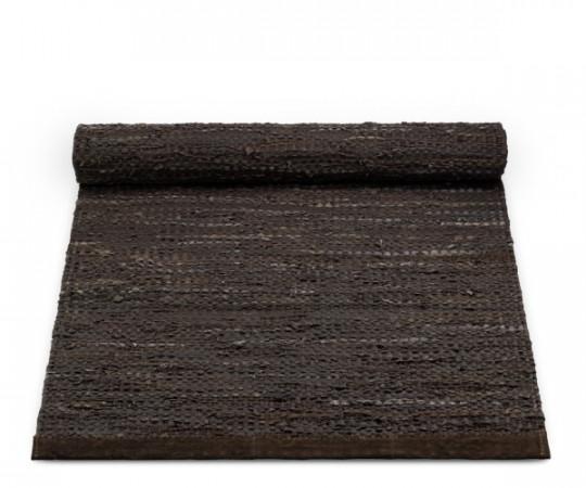 rug solid choco læder tæppe