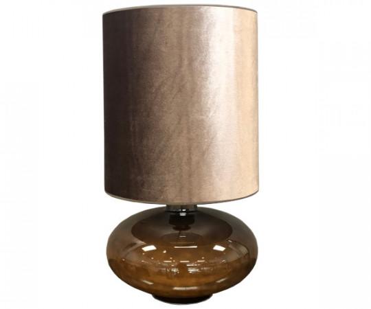 sandy flavia lampe varmgrå velour skærm