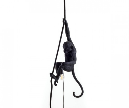 Seletti monkey lampe sort