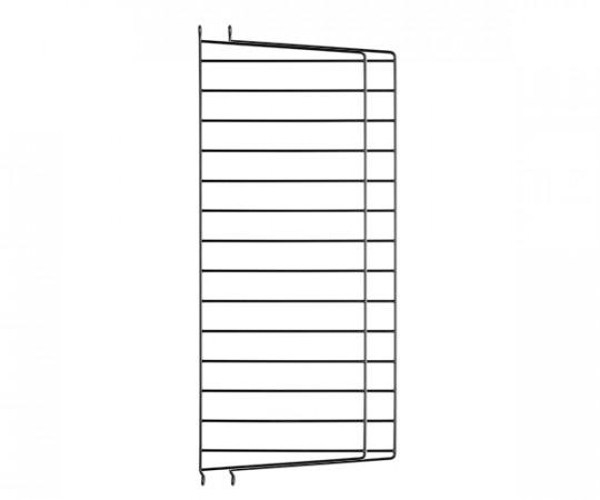 String Gavl 2-pack - Væghængt 75x30 sort