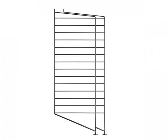 String Gavl 2-pack - Gulv 85x30 cm sort