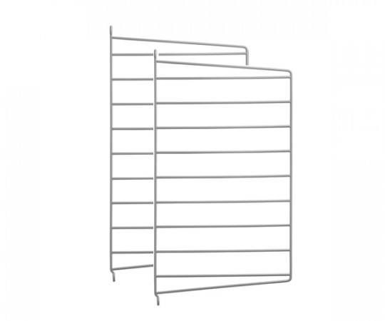 String Gavl 2-pack - Væghængt 50x30 grå