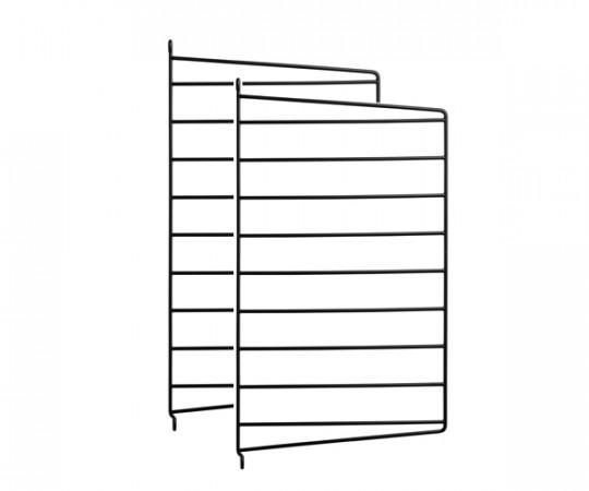 String Gavl 2-pack - Væghængt 50x30 sort