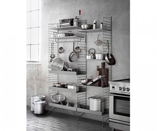 String - Komplet Køkken Opstilling - Bredde 136cm