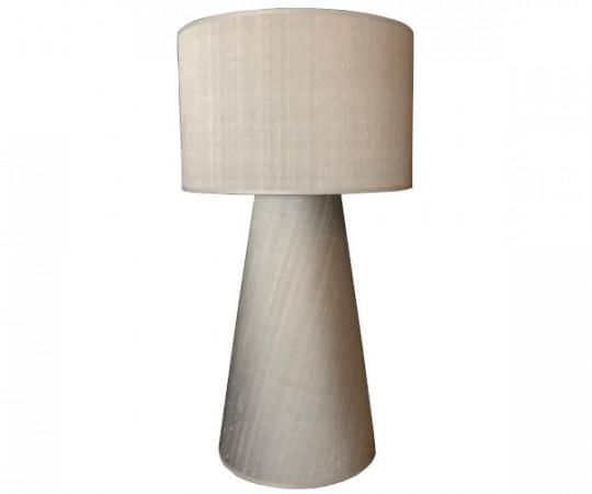 saralu lysgrå silke bordlampe lysegrå
