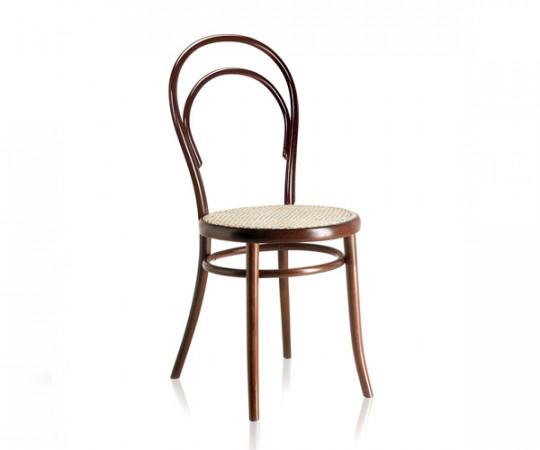 Gebrüder Thonet Wiener Stol - N.14 - Bejdset m./ rørflet sæde