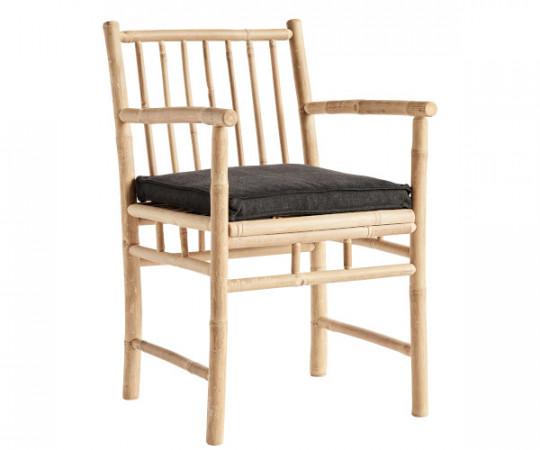 tine k home bambus spisestol med armlæn med hynde