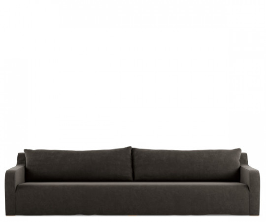 tine k home sofa soft velour smoke
