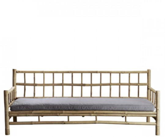 ne k home bambus loungesofa grå hynde