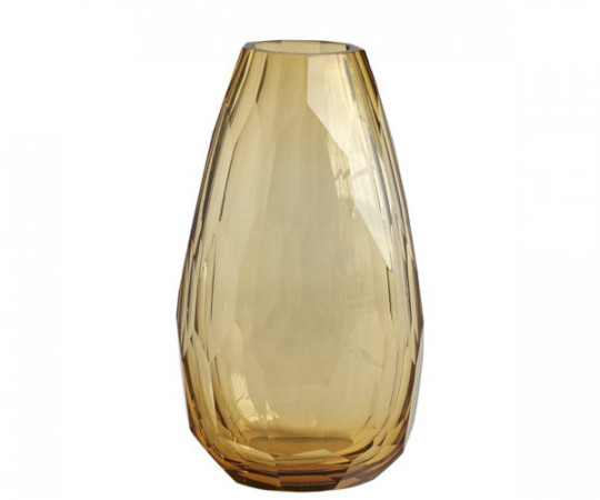 tine k home tung crystal vase amber