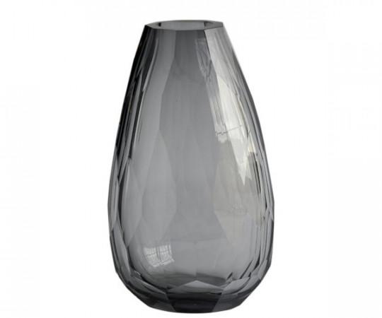 tine k home tung crystal vase grå