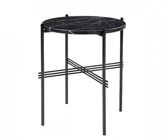 Gubi TS Side Table - Sort Marmor - Ø40 cm.