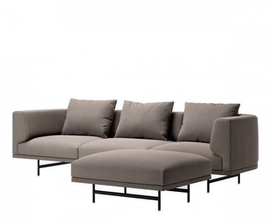 Vipp 632 Chimney sofa - 3 Personers + Pouf - Steelcut Trio 253
