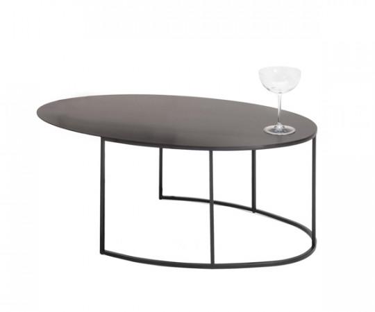 Zeus Slim Irony Sofabord Oval - Large