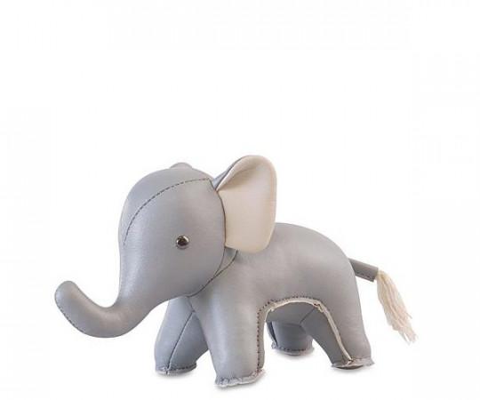 zuny baby elefant abby lysegrå