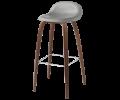 Gubi 3D barstol - skal med træben