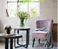 cozy living velour loungestol