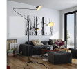 Serge Mouille Standing Lamp 3 Rotating Arms - L3B