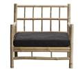 tine k home bambus loungestol mørkegrå hynde