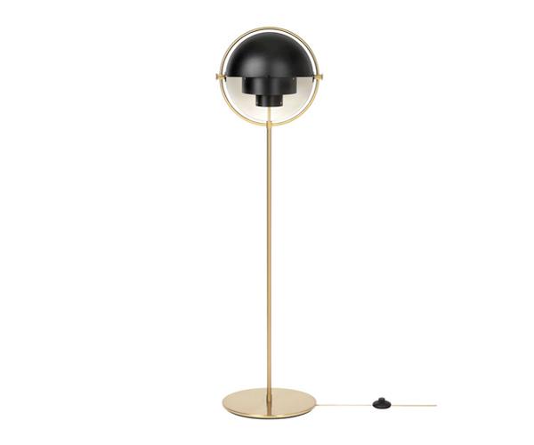 Billede af Gubi Multi-Lite - Standerlampe - Sort/Messing