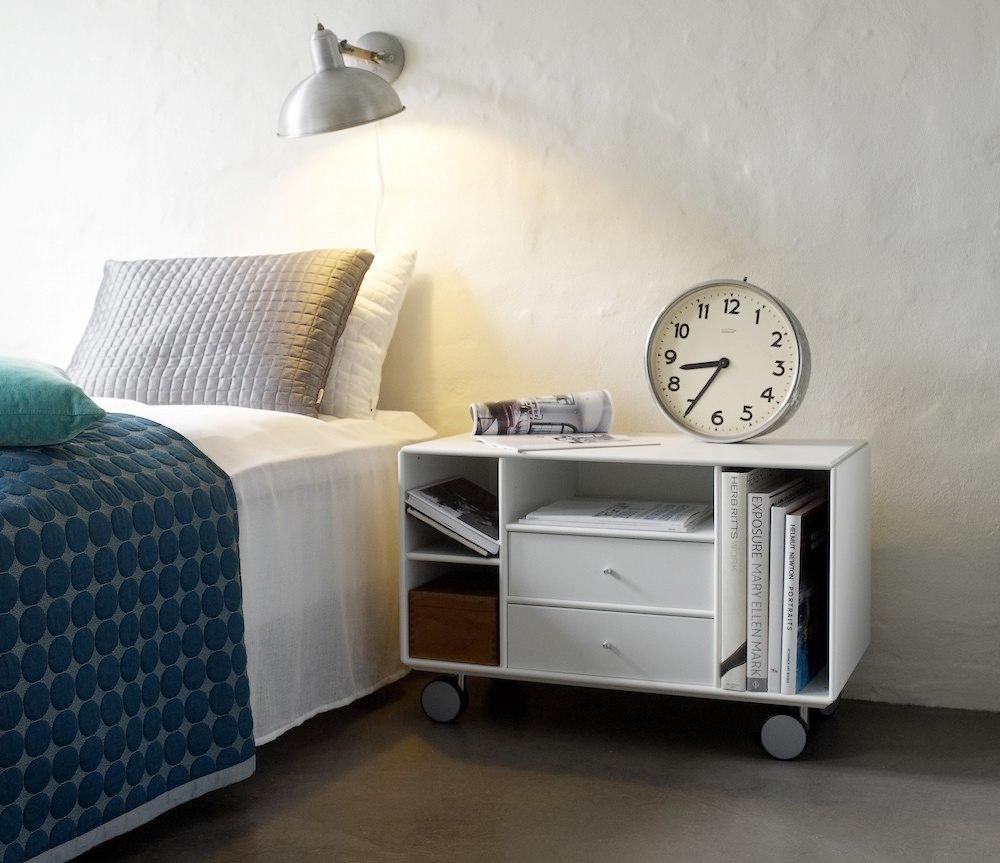 Quadrant sengebord med hjul