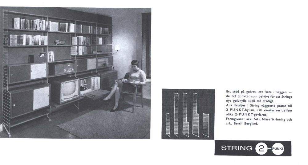 String Reklame ca 1950